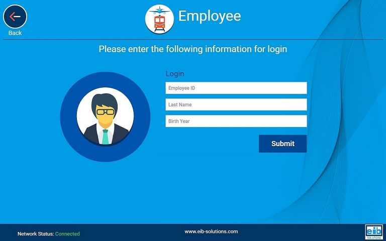 Employee / Operator Login options